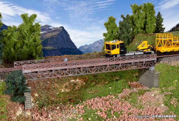 H0 Fachwerk-Stahlbrücke, eingleisig