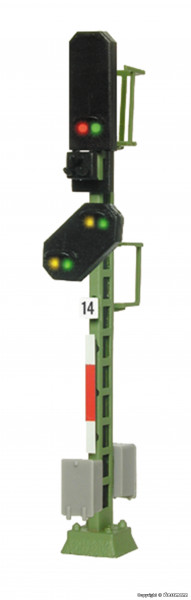 N Licht-Blocksignal mit Vorsignal