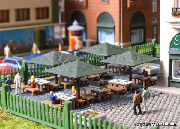 N Biergarten-Schirme, 4 Stück