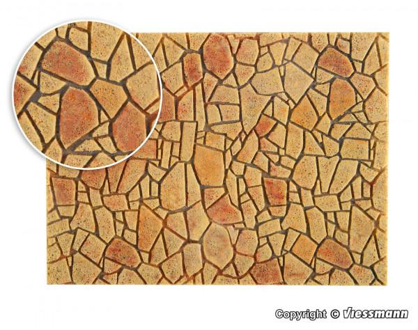 0 Polygonalplatte aus Steinkunst, mediterran