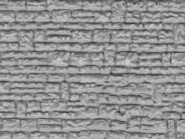 H0 Mauerplatte Haustein aus Kunststoff,