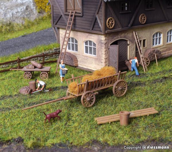 H0 Deko-Set Bauernhof