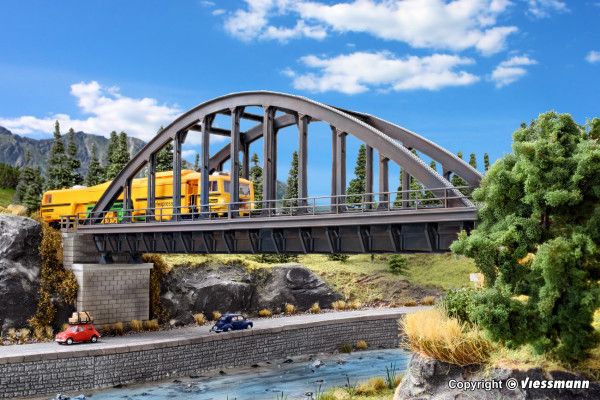 H0 Stahlbogenbrücke, gerade