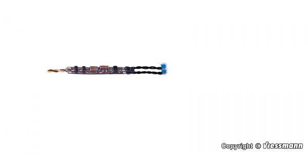 Mini-LED blau, 2 Stück mit Mikro-Blinkelektronik