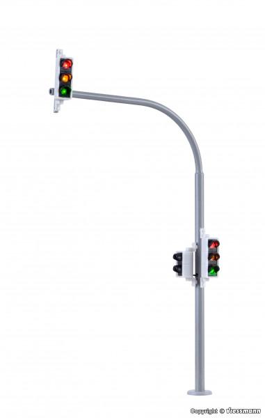 H0 Bogenampel mit Fußgängerampel und LEDs,