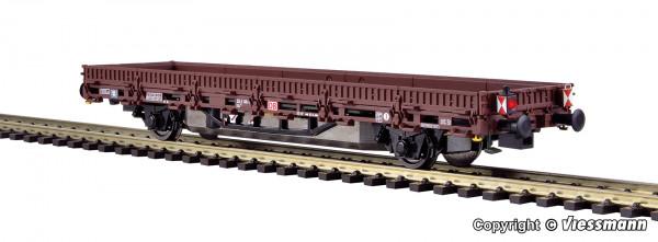 H0 Niederbordwagen mit Antrieb, braun, Funktionsmodell für Zweileitersysteme