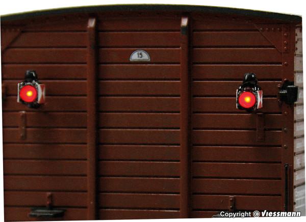 H0 Zugschlusslaternen mit LED, 2 Stück
