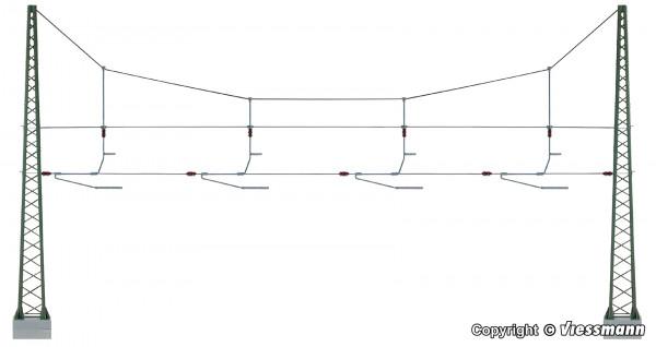 H0 Quertragwerk über 4 Gleise