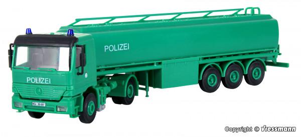 H0 Polizei MB ACTROS Tankzug **Auslauf**