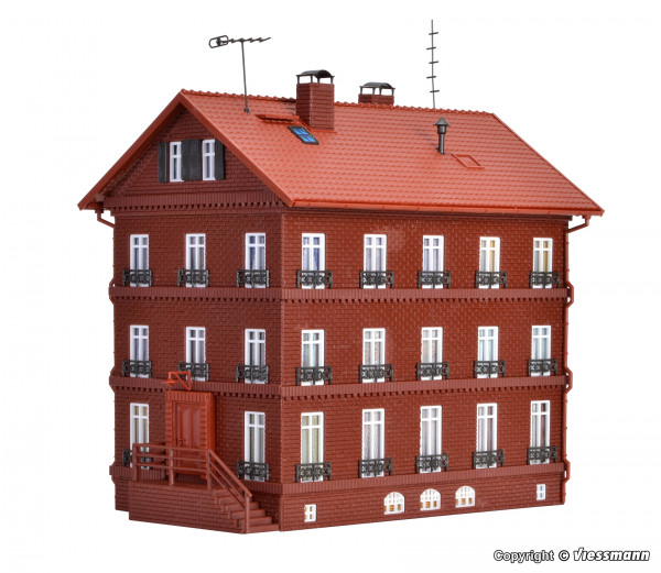 H0 Eisenbahner-Wohnhaus