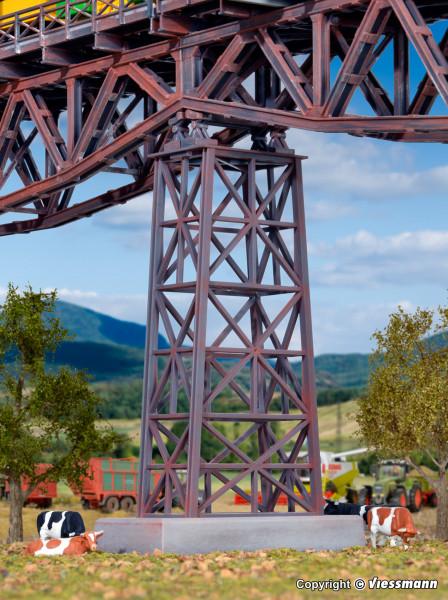 H0 Stahl-Viadukt-Mittelpfeiler