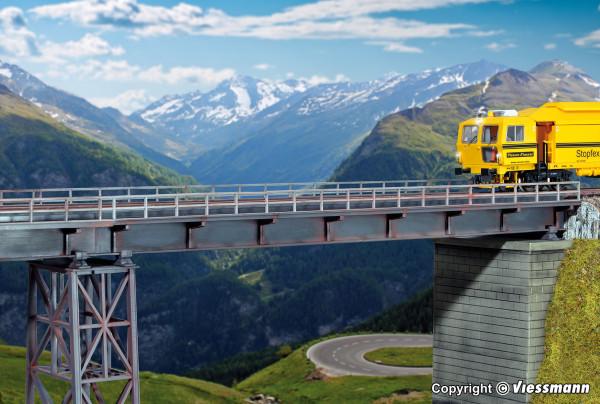 H0 Stahlträgerbrücke gerade, eingleisig