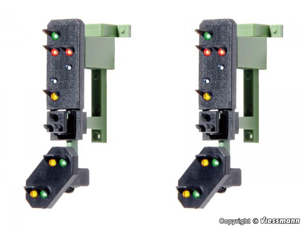 H0 Ausfahrsignalköpfe mit Vorsignal und Multiplex-