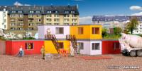 H0 Gebäude-Container, 6 Stück
