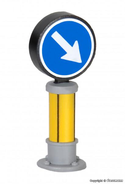 H0 Verkehrszeichen 222 mit LED-Beleuchtung