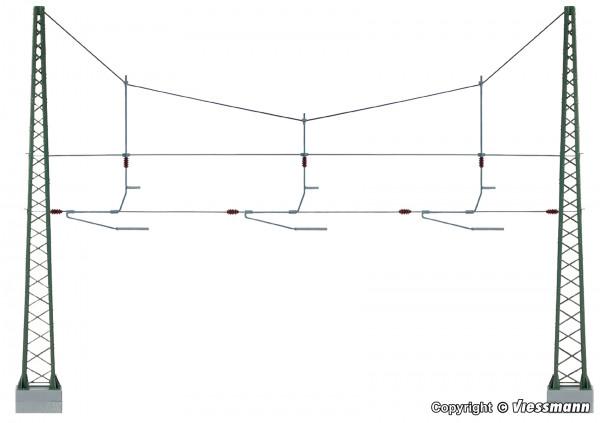 H0 Quertragwerk über 3 Gleise