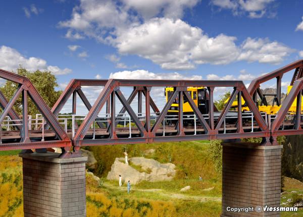 H0 Stahl-Vorflutbrücke, eingleisig