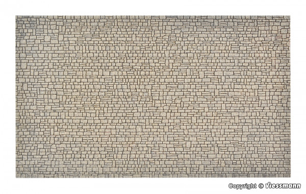 H0 Mauerplatte Haustein aus Steinkunst,