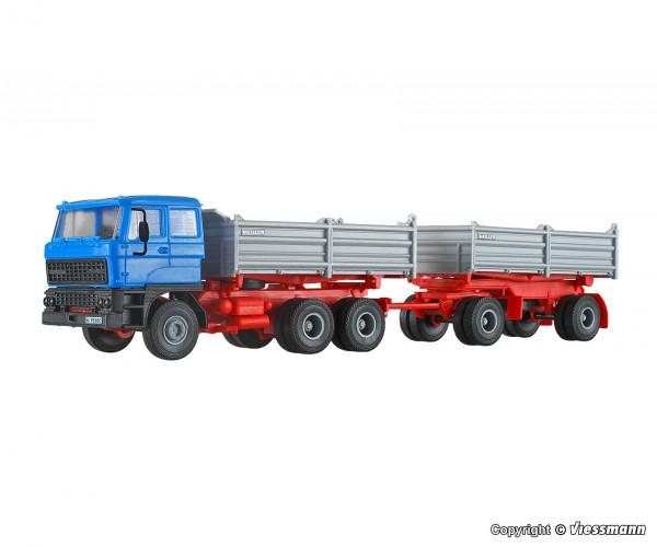 H0 DAF 3-achs Zugmaschine mit 2-achs Anhänger
