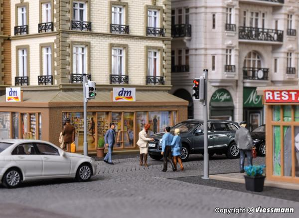 H0 Verkehrsampel mit Fußgängerampel und LEDs,