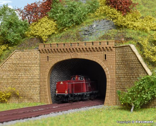 N Tunnelportal, zweigleisig, 2 Stück