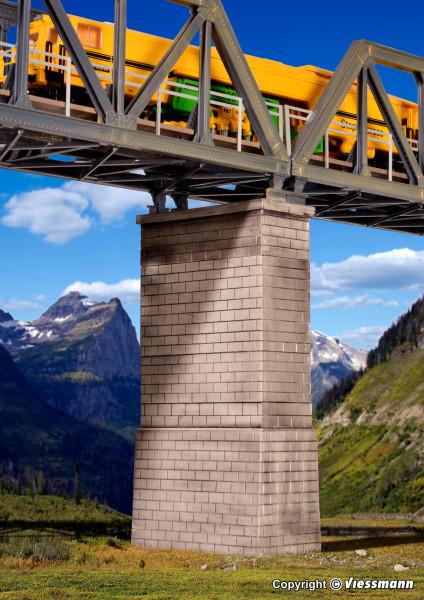 H0 Universal Brücken-Mittelpfeiler gemauert