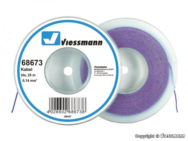 Kabel auf Abrollspule 0,14 mm², lila, 25 m