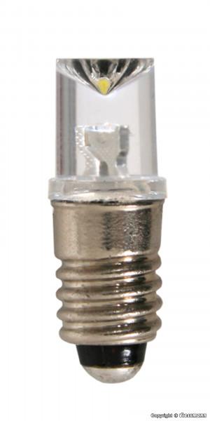 LED-Leuchte weiß mit Gewindefassung E 5,5, 5 Stück