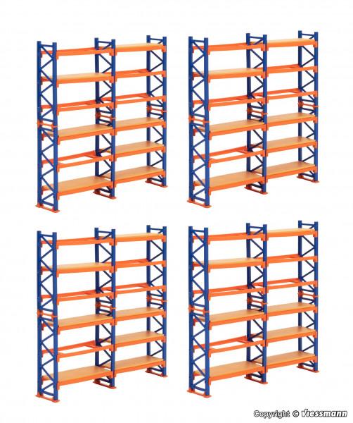 H0 Deko-Set Paletten-Regalsystem, 4 Stück