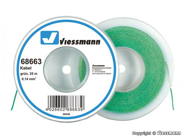 Kabel auf Abrollspule 0,14 mm², grün, 25 m