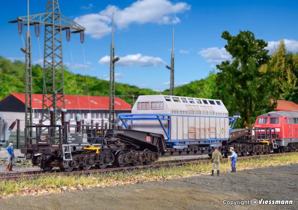 H0 Waggon UNION Schienentiefladewagen Uaai 819
