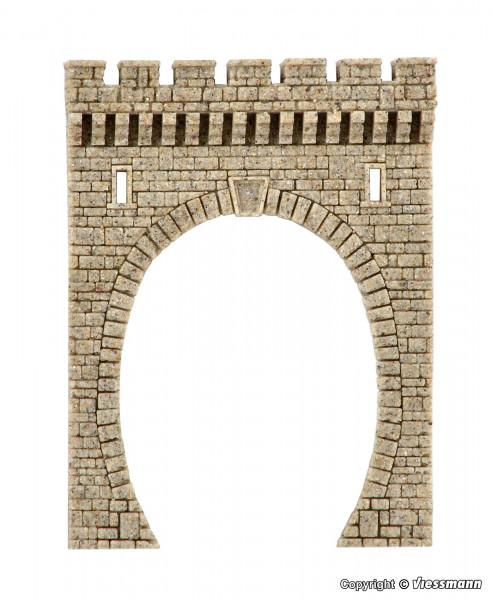 N Tunnelportal aus Steinkunst, eingleisig