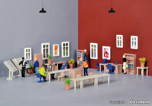 H0 Deko-Set Möbel für technisches Büro