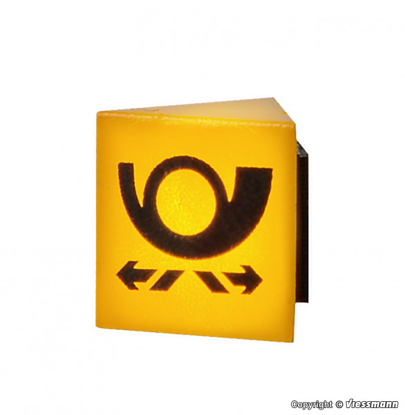H0 Reklameschild POST mit LED-Beleuchtung