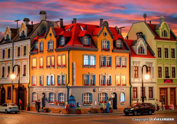 H0 Eckhaus inkl. Hausbeleuchtungs-Startset
