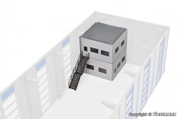 H0 Bürobereich für Industriehallen