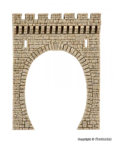 H0 Tunnelportal aus Steinkunst, eingleisig