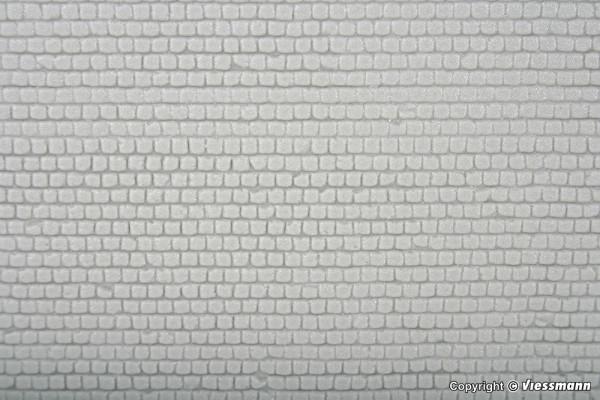 H0 Kopfsteinpflasterplatte, L ca. 20 x B 12 cm
