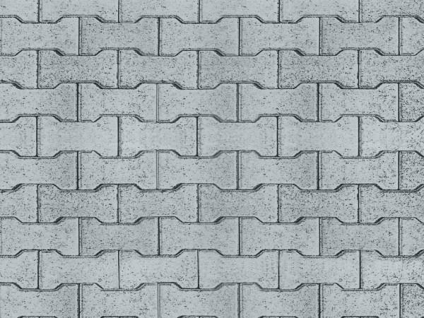 H0 Straßenplatte Zement-Knochensteine aus Karton,