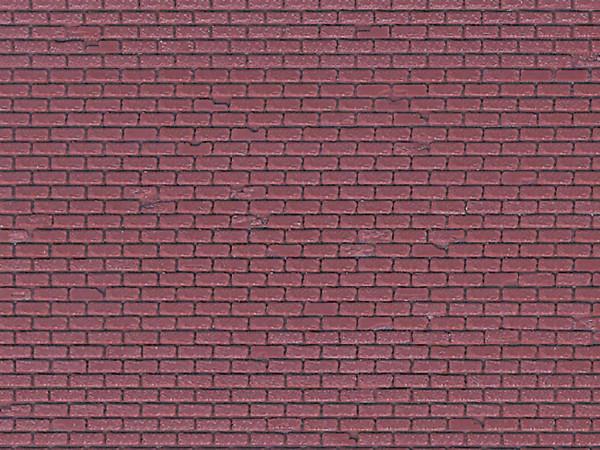 H0 Mauerplatte Ziegel aus Kunststoff, 21,8 x 11,9