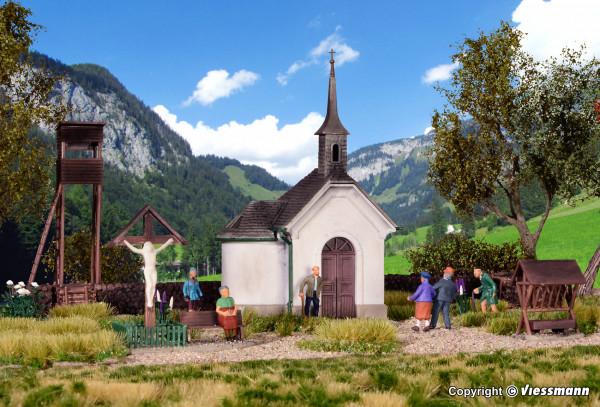 H0 Kapelle in Hirschbichl mit Zubehör