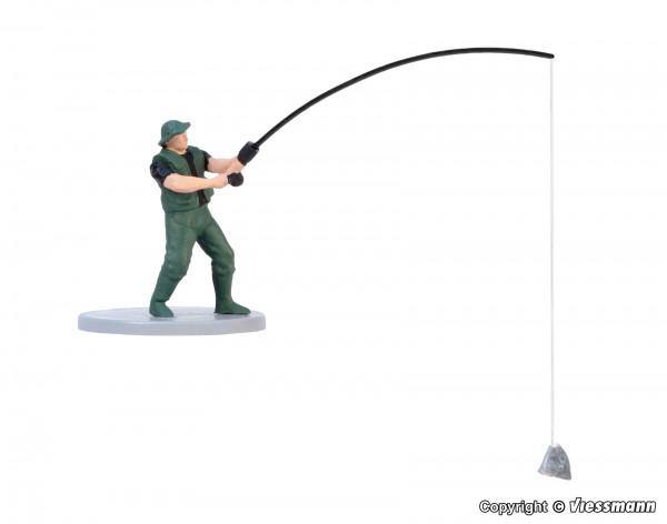 H0 Angler, bewegt