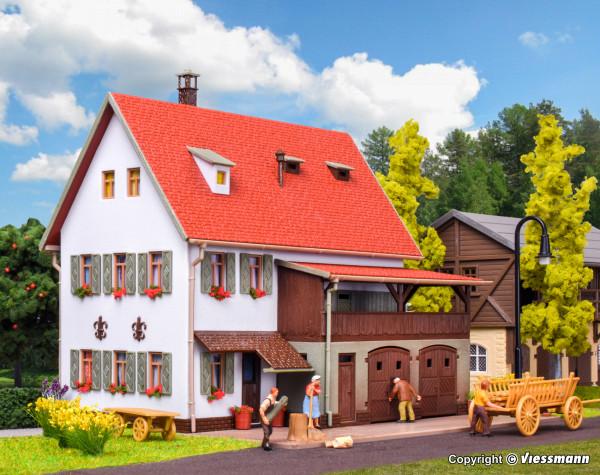 H0 Bauernhaus mit Scheune