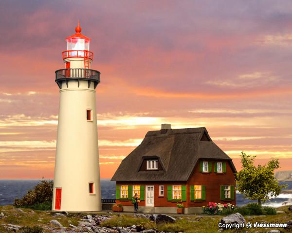 H0 Leuchtturm Hiddensee mit Nebengebäude