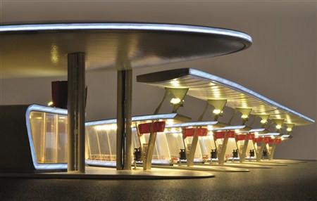 H0 Moderner Busbahnhof,