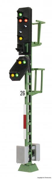 H0 Licht-Ausfahrsignal mit Vorsignal und Multiplex