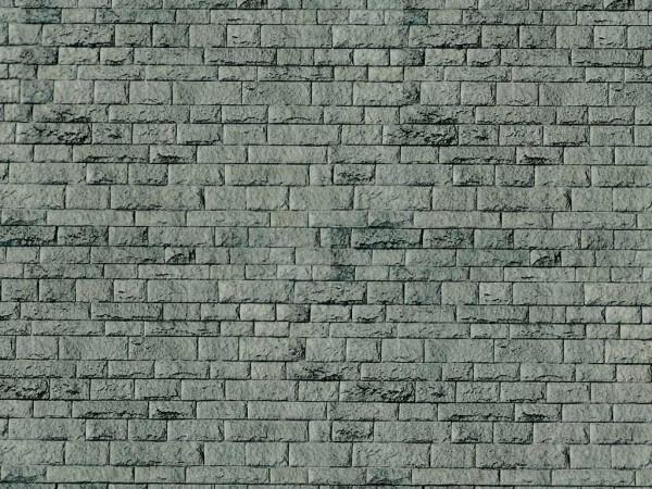 H0 Mauerplatte Porphyr aus Karton, 25 x 12,5 cm,