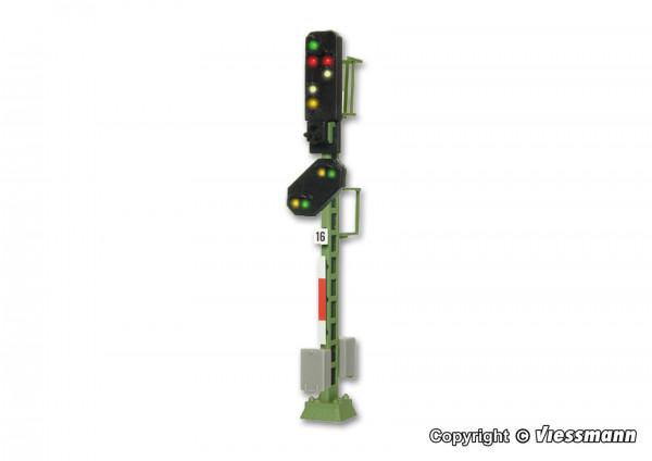 N Licht-Ausfahrsignal mit Vorsignal