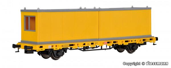 H0 Niederbordwagen mit 2 Containern GleisBau,
