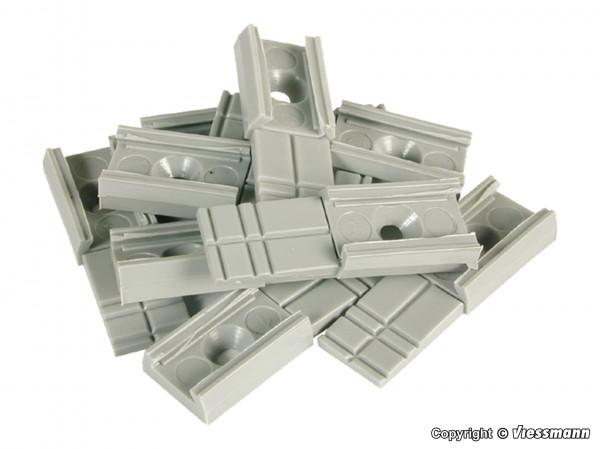H0 Grundträger für Streckenmasten, 10 Stück